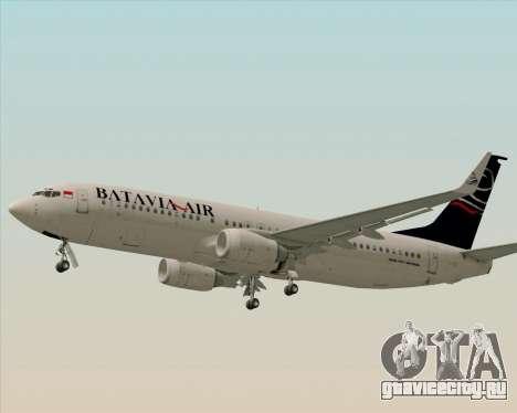 Boeing 737-800 Batavia Air для GTA San Andreas вид изнутри