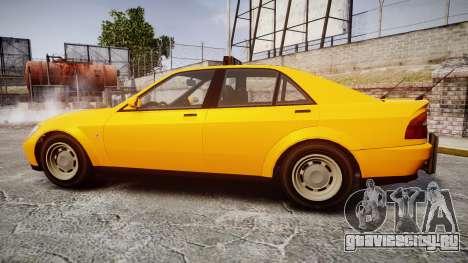 Karin Sultan Taxi для GTA 4 вид слева