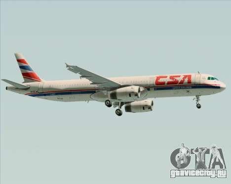 Airbus A321-200 CSA Czech Airlines для GTA San Andreas вид сбоку