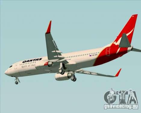 Boeing 737-838 Qantas (Old Colors) для GTA San Andreas вид сзади слева