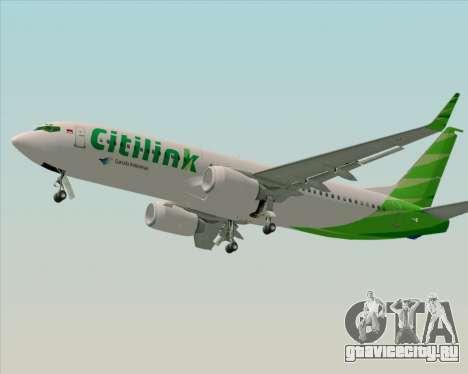 Boeing 737-800 Citilink для GTA San Andreas вид справа
