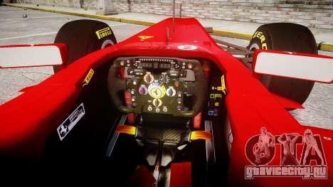 Ferrari 150 Italia Alonso для GTA 4 вид сзади