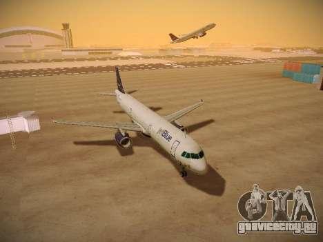 Airbus A321-232 jetBlue Woo-Hoo jetBlue для GTA San Andreas вид изнутри