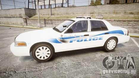 Ford Crown Victoria PS Police [ELS] для GTA 4 вид слева