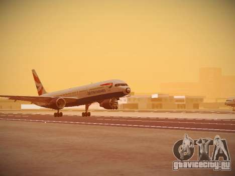 Boeing 757-236 British Airways для GTA San Andreas вид слева
