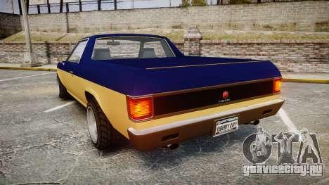 GTA V Cheval Picador для GTA 4 вид сзади слева