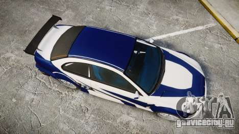 Ubermacht Sentinel GTR Most Wanted style для GTA 4 вид справа