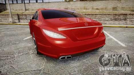 Mercedes-Benz CLS 63 AMG Vossen для GTA 4 вид сзади слева