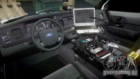 Ford Crown Victoria PS Police [ELS] для GTA 4 вид сзади