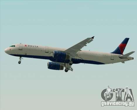 Airbus A321-200 Delta Air Lines для GTA San Andreas двигатель