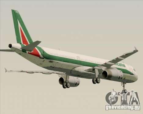 Airbus A321-200 Alitalia для GTA San Andreas вид сзади