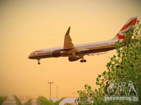 Boeing 757-236 British Airways для GTA San Andreas салон