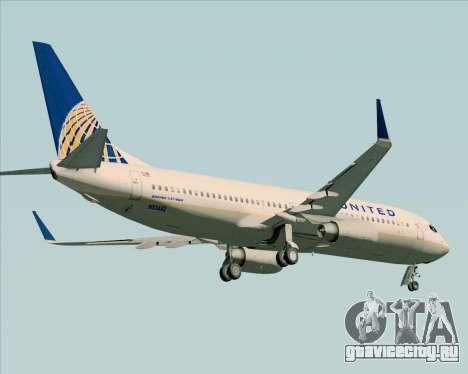 Boeing 737-824 United Airlines для GTA San Andreas колёса