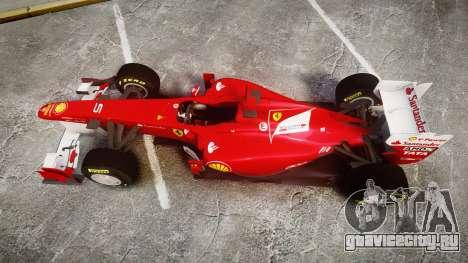Ferrari 150 Italia Alonso для GTA 4 вид справа