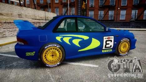 Subaru Impreza WRC 1998 Rally v2.0 Green для GTA 4 вид слева