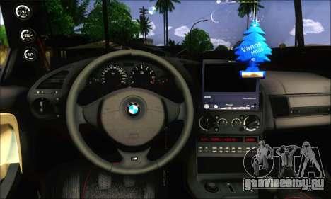 BMW E36 Stanced для GTA San Andreas вид сзади слева