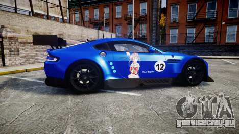 Aston Martin Vantage GTE Nico Yazawa для GTA 4 вид слева