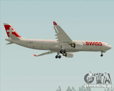 Airbus A330-300X Swiss International Air Lines для GTA San Andreas вид сзади
