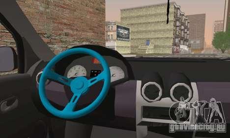 Dacia Logan 1.6 DJ для GTA San Andreas вид сзади слева