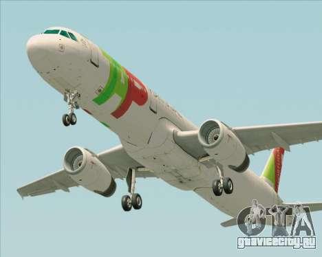 Airbus A321-200 TAP Portugal для GTA San Andreas вид сзади