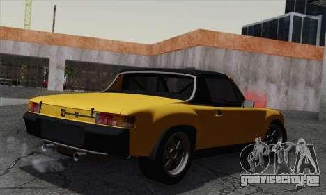 Porsche 914 для GTA San Andreas вид слева