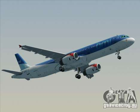 Airbus A321-200 British Midland International для GTA San Andreas вид справа