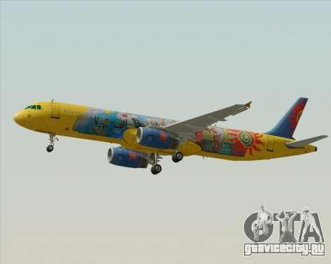 Airbus A321-200 для GTA San Andreas вид сверху