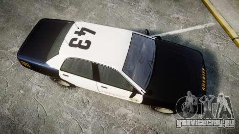 GTA V Vapid Cruiser LSS Black [ELS] Slicktop для GTA 4 вид справа