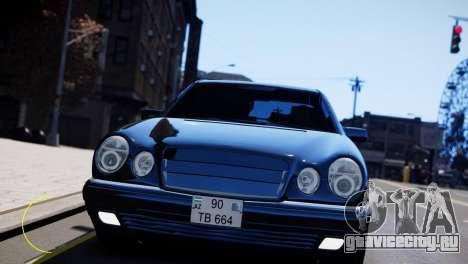 Mercedes-Benz E55 AMG для GTA 4 вид слева