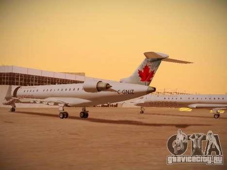 Bombardier CRJ-700 Air Canada Express для GTA San Andreas вид изнутри