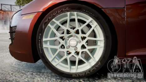 Audi R8 2010 Rotiform BLQ для GTA 4 вид сзади