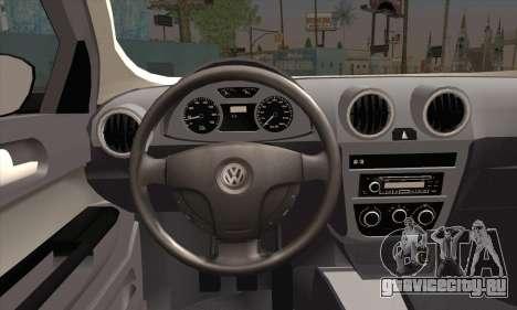 Volkswagen Saveiro Slammed для GTA San Andreas вид сзади слева