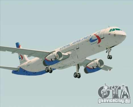 Airbus A321-200 Ural Airlines для GTA San Andreas вид сзади
