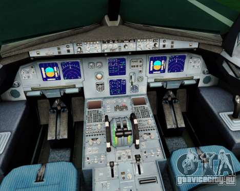 Airbus A321-200 Alitalia для GTA San Andreas салон