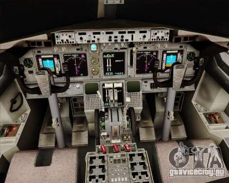 Boeing 737-824 United Airlines для GTA San Andreas салон
