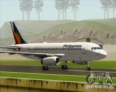 Airbus A319-112 Philippine Airlines для GTA San Andreas вид изнутри