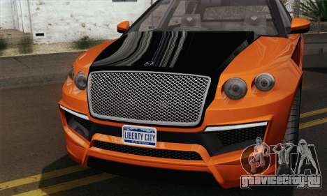 Huntley S (IVF) для GTA San Andreas вид сзади слева