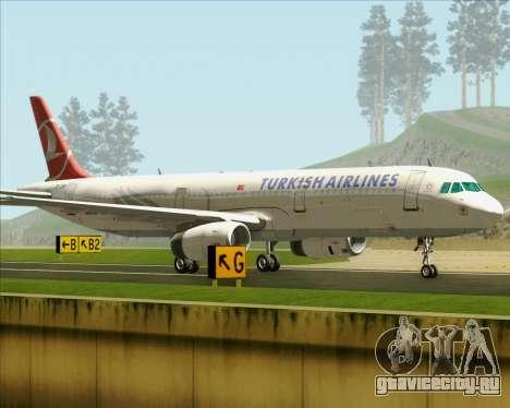 Airbus A321-200 Turkish Airlines для GTA San Andreas вид изнутри