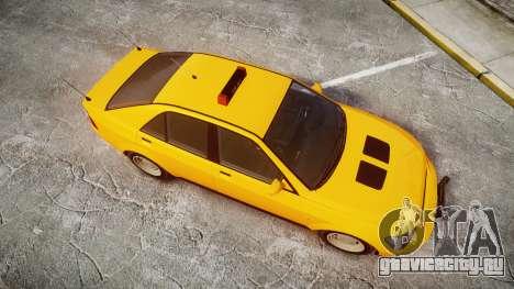 Karin Sultan Taxi для GTA 4 вид справа