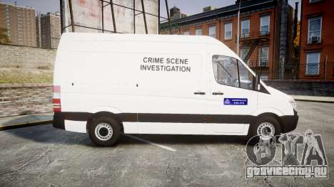 Mercedes-Benz Sprinter 311 cdi London Police для GTA 4 вид слева