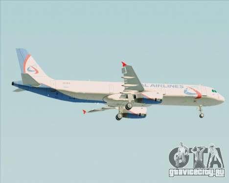 Airbus A321-200 Ural Airlines для GTA San Andreas вид справа