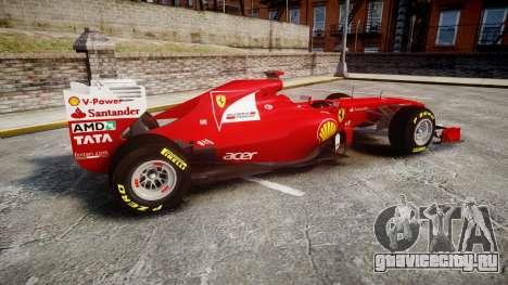 Ferrari 150 Italia Alonso для GTA 4 вид слева