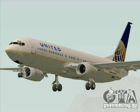 Boeing 737-824 United Airlines для GTA San Andreas