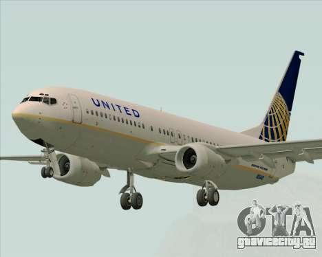 Boeing 737-824 United Airlines для GTA San Andreas