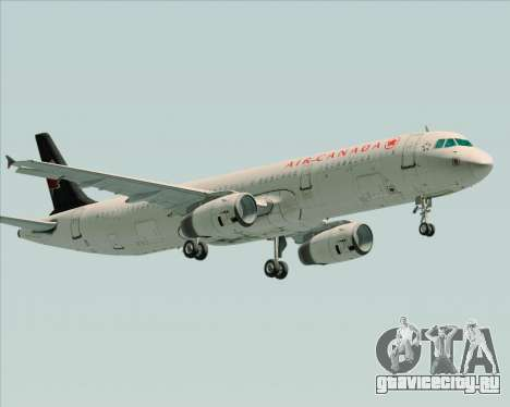 Airbus A321-200 Air Canada для GTA San Andreas вид изнутри