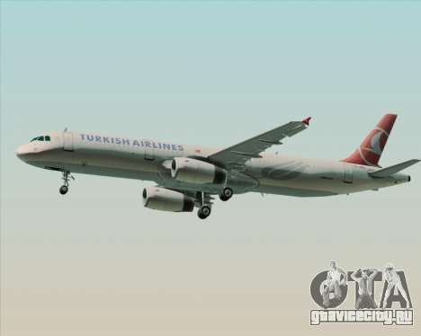 Airbus A321-200 Turkish Airlines для GTA San Andreas вид справа