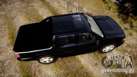Chevrolet Avalanche 2008 Undercover [ELS] для GTA 4 вид справа