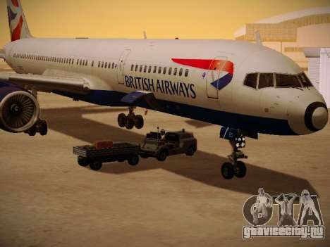 Boeing 757-236 British Airways для GTA San Andreas вид сверху