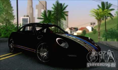 Porsche 997 Turbo Tunable для GTA San Andreas вид сверху