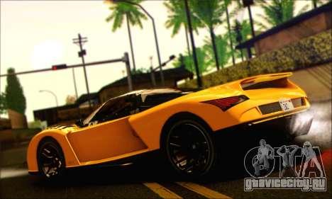 Grotti Cheetah (HQLM) для GTA San Andreas вид слева